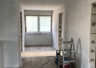 Malerarbeiten im Neubau
