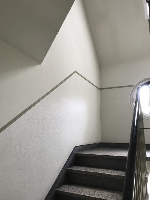 Treppenhausgestaltung vorher