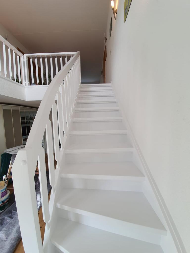 Die Treppe vor der Bearbeitung